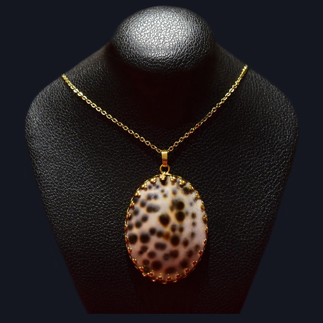 گردنبند صدفی روکش طلا ماسیا کد 03050
