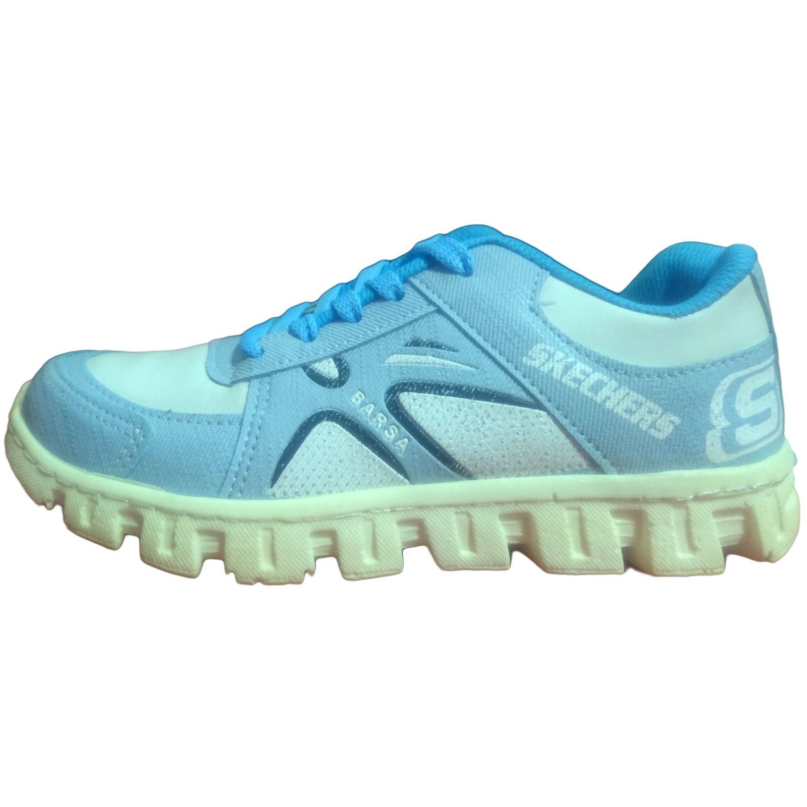 کفش مخصوص دویدن زنانه طرح اسکچرز مدل go walk blue