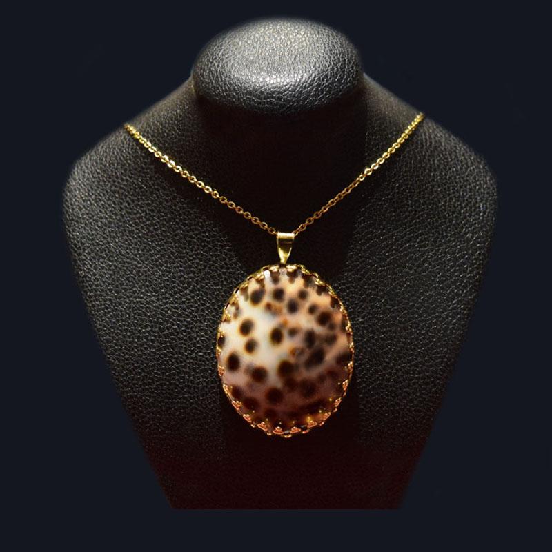 گردنبند صدفی روکش طلا ماسیا کد 03020