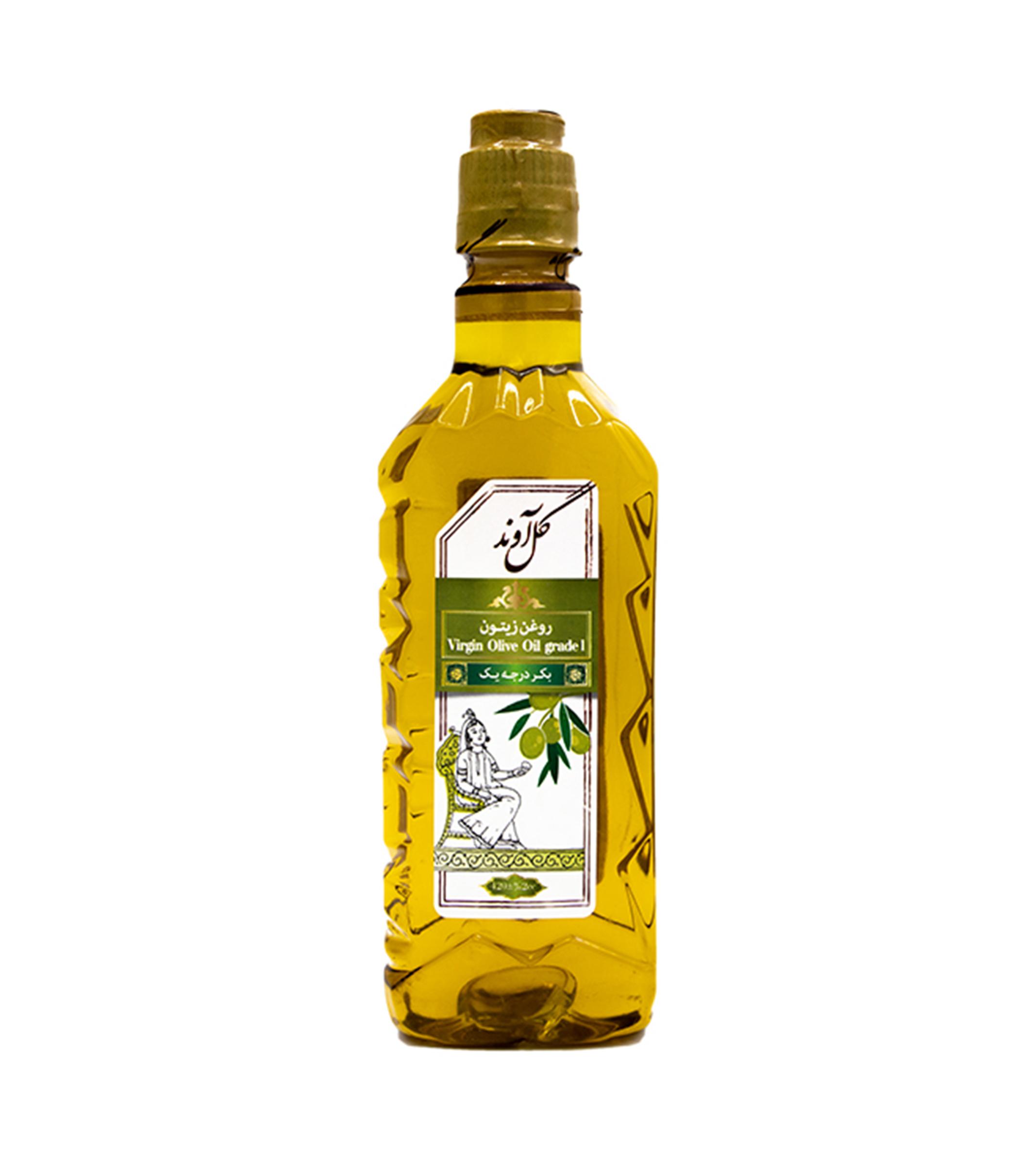 روغن زیتون بکر درجه یک 420 سی سی گل آوند