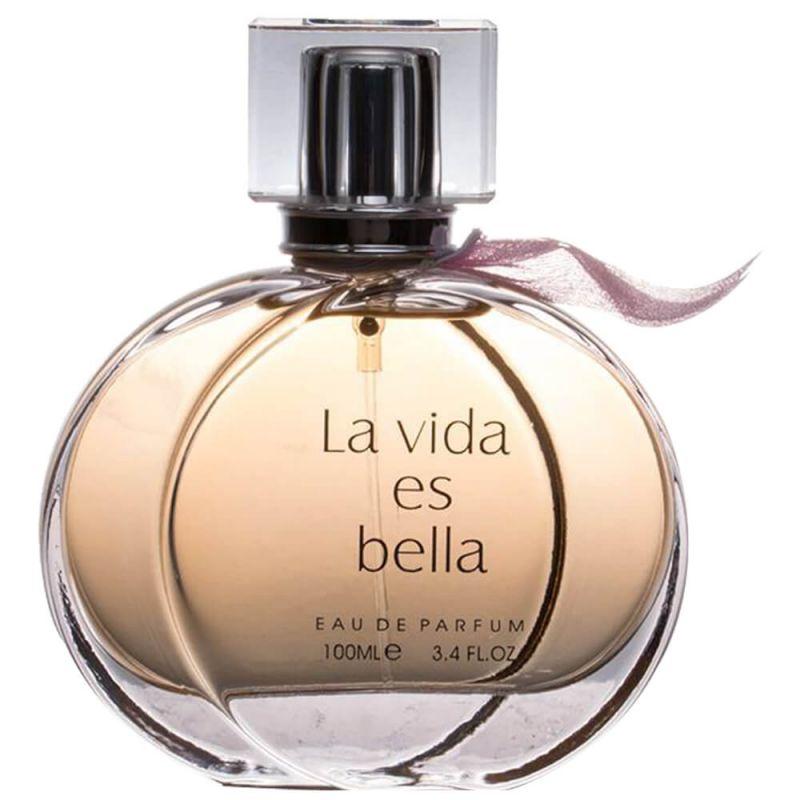 ادو پرفیوم زنانه فراگرنس ورد مدل La Vida Es Bella حجم 100 میل