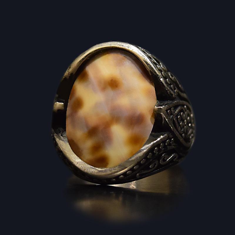 انگشتر نقره 925 - سنگ صدف طبیعی ماسیا کد 34