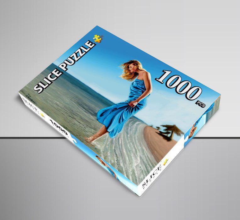 پازل ۱۰۰۰ تکه طرح دختر و دریا با برند اسلایس