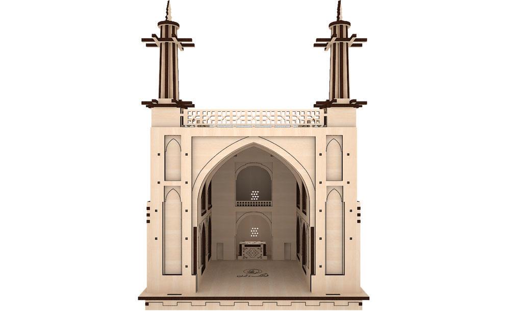 پازل سه بعدی چوبی منارجنبان