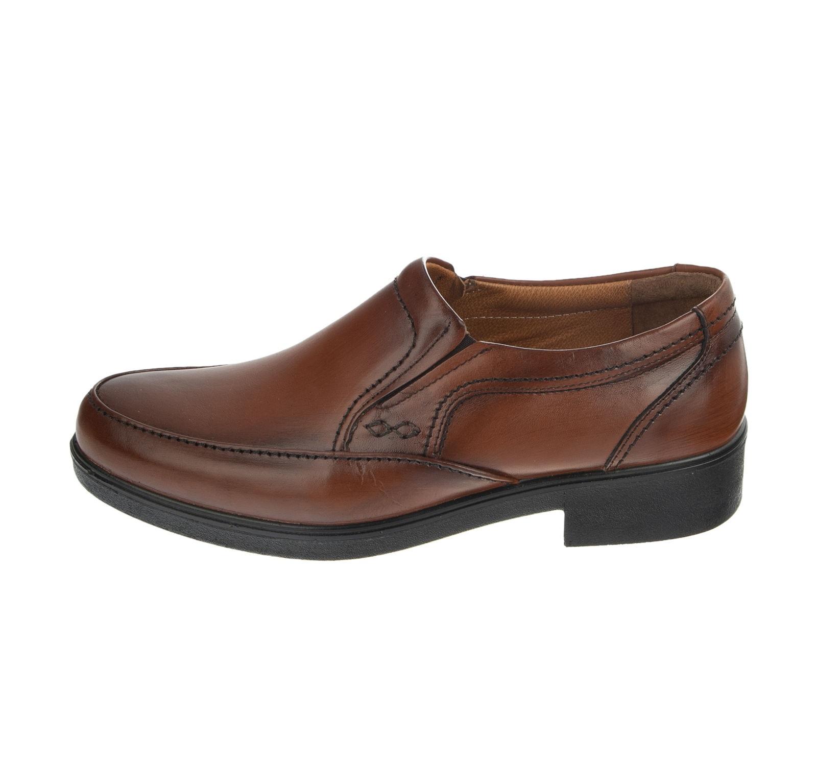کفش مردانه مجلسی مدل T10 عسلی آذر پلاس
