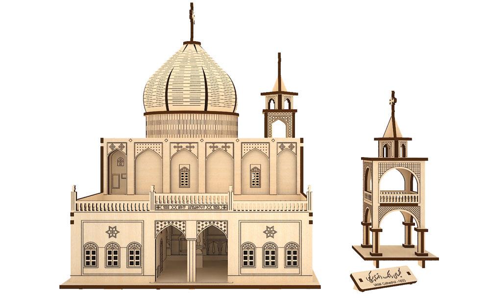 پازل سه بعدی چوبی کلیسا وانک