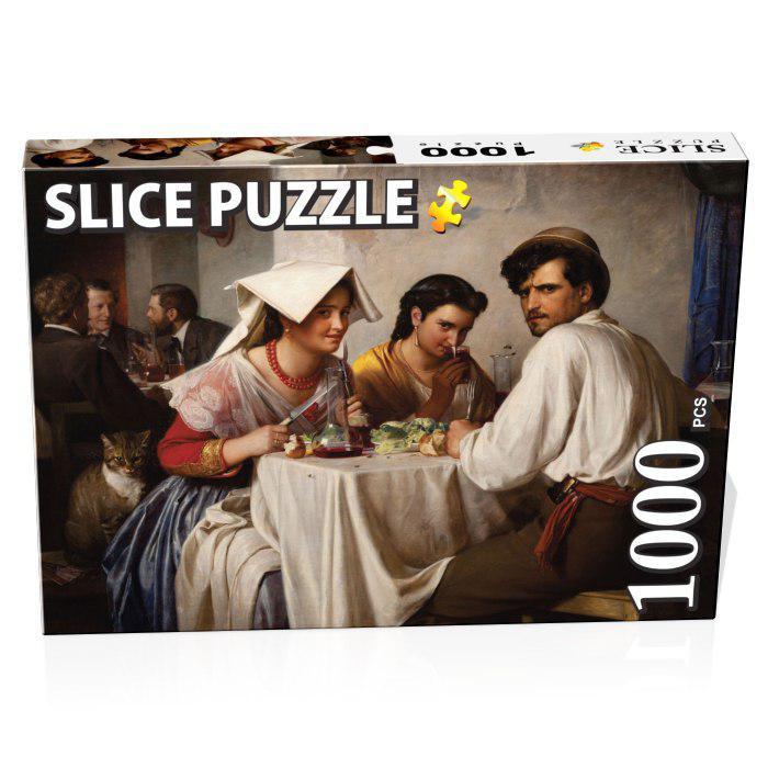 پازل 1000 تکه اسلایس پازل مدل مهمانخانه رومی