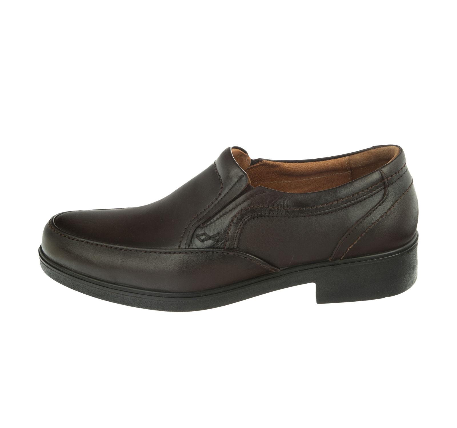 کفش مردانه مجلسی مدل T10 قهوه ای آذر پلاس