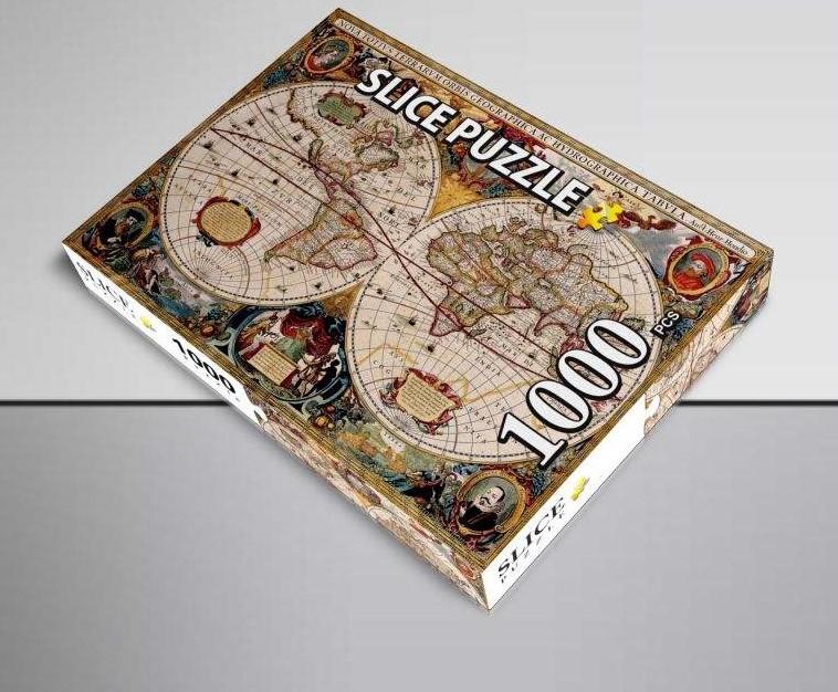 پازل 1000 تکه اسلایس مدل نقشه باستانی جهان