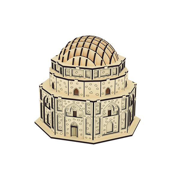 پازل سه بعدی چوبی گنبد جبلیه