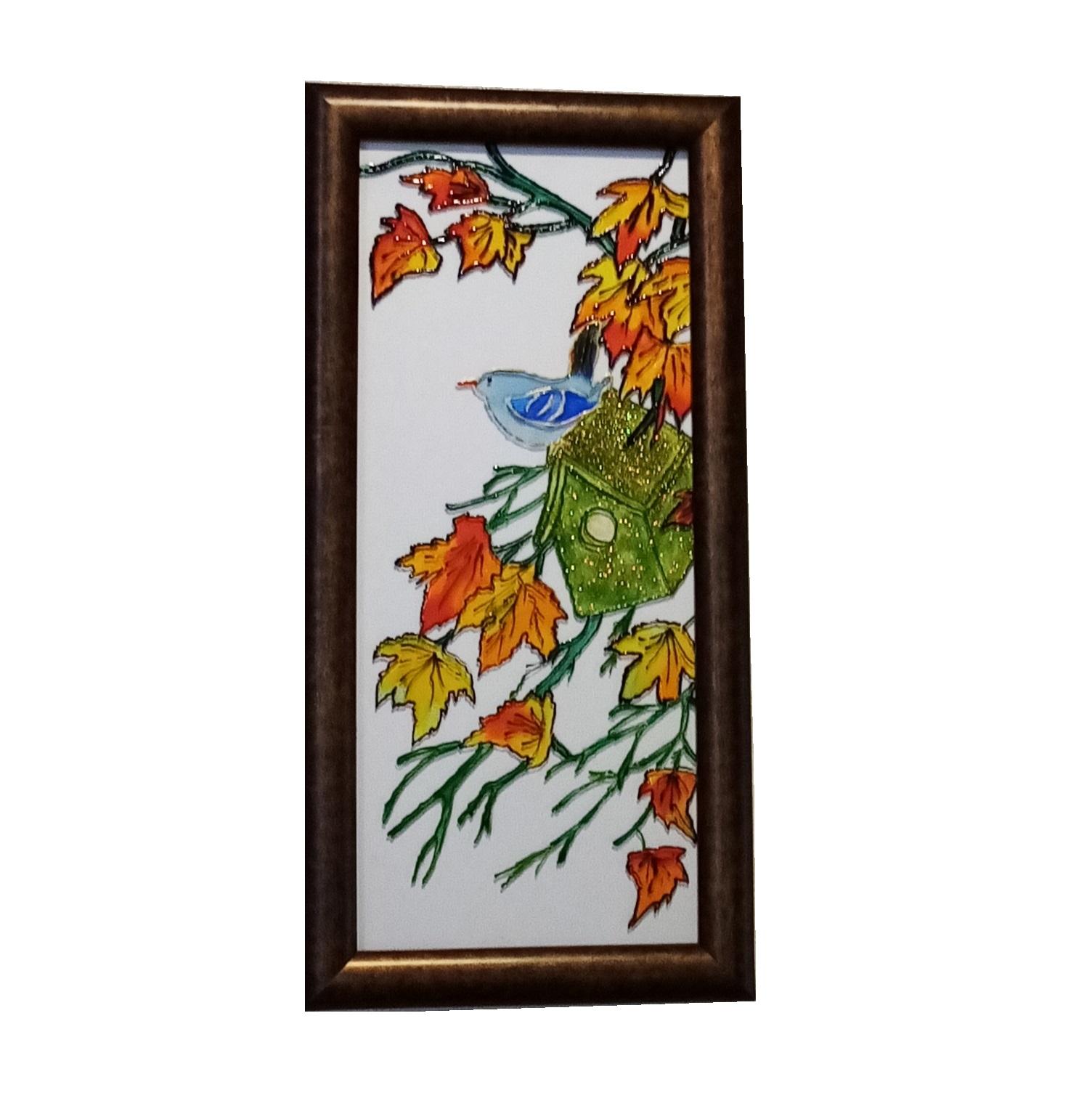 تابلوی ویترای طرح پاییز