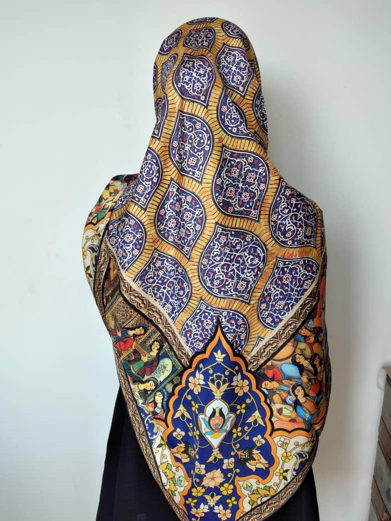 روسری زنانه ابریشم ماچو کد MA171c01