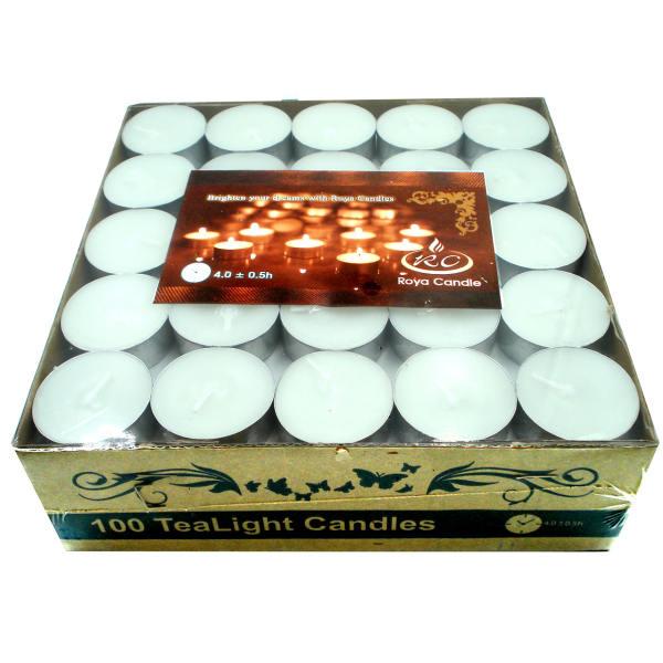 شمع وارمر سفید بسته 100 عددی