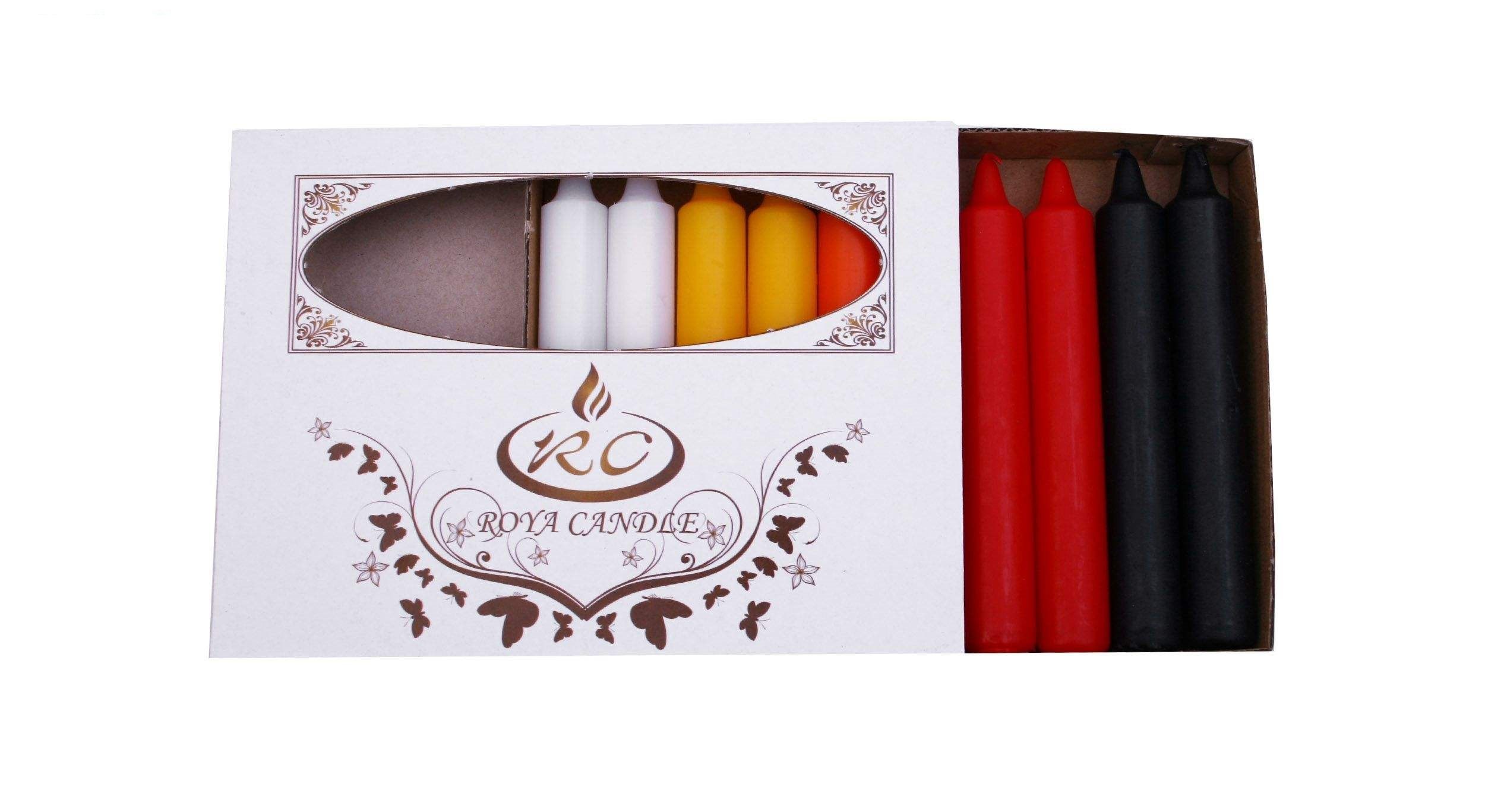 شمع قلمی 20 سانتی رنگی مدل ایکیا بسته 10 عددی
