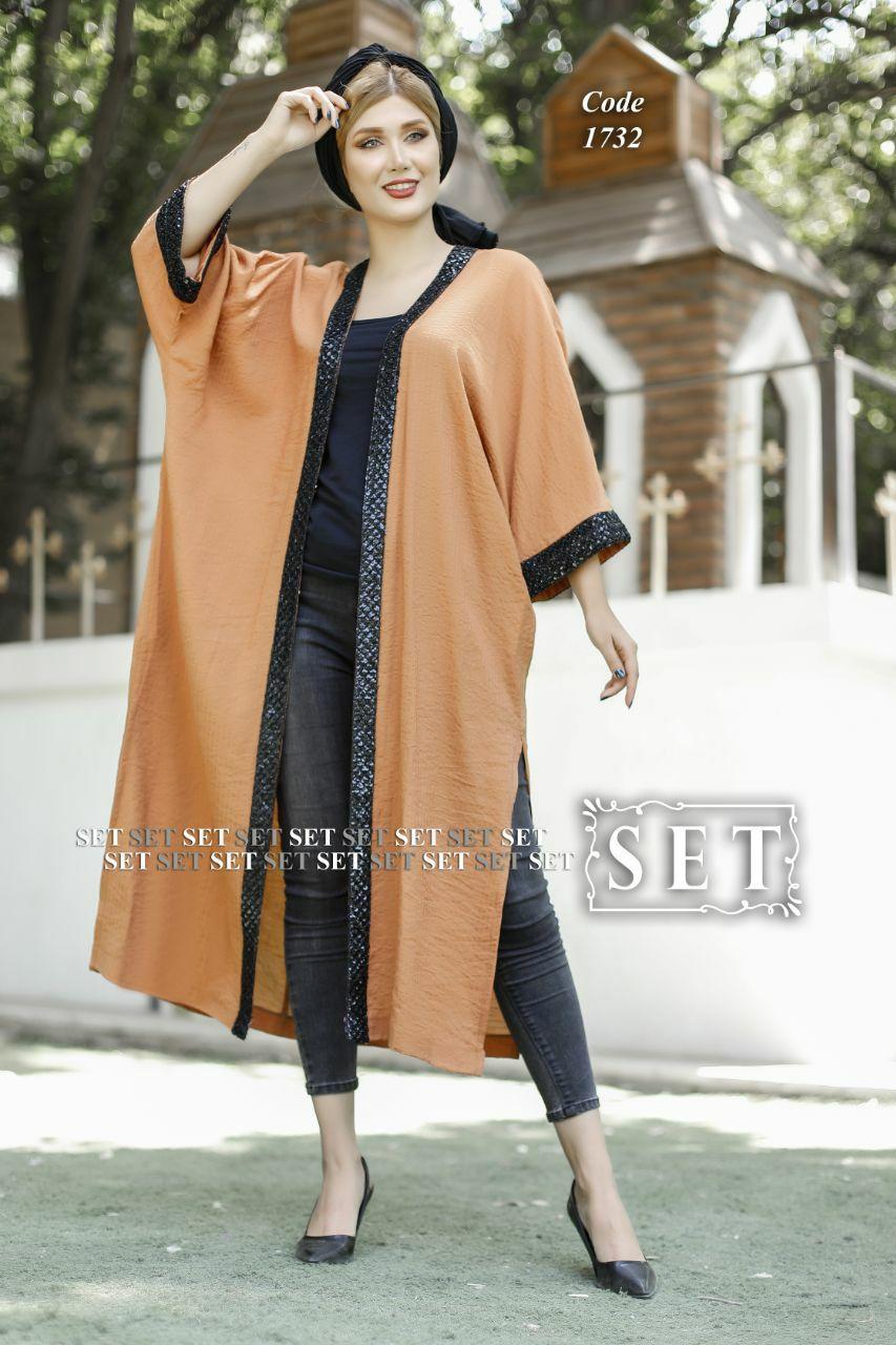 مانتو زنانه مدل افسون نارنجی