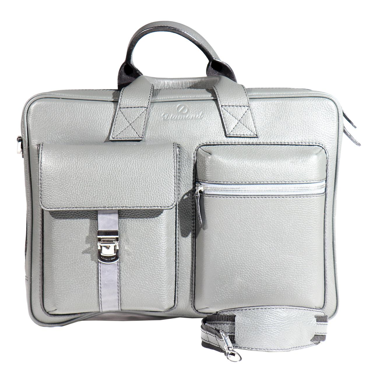 کیف اداری چرم طبیعی قفلدار مدل L8420