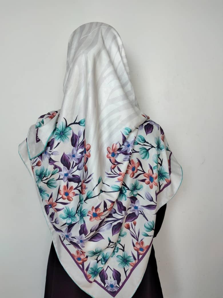 روسری ابریشم زنانه ژاکارد مدل LV کد lv191C03
