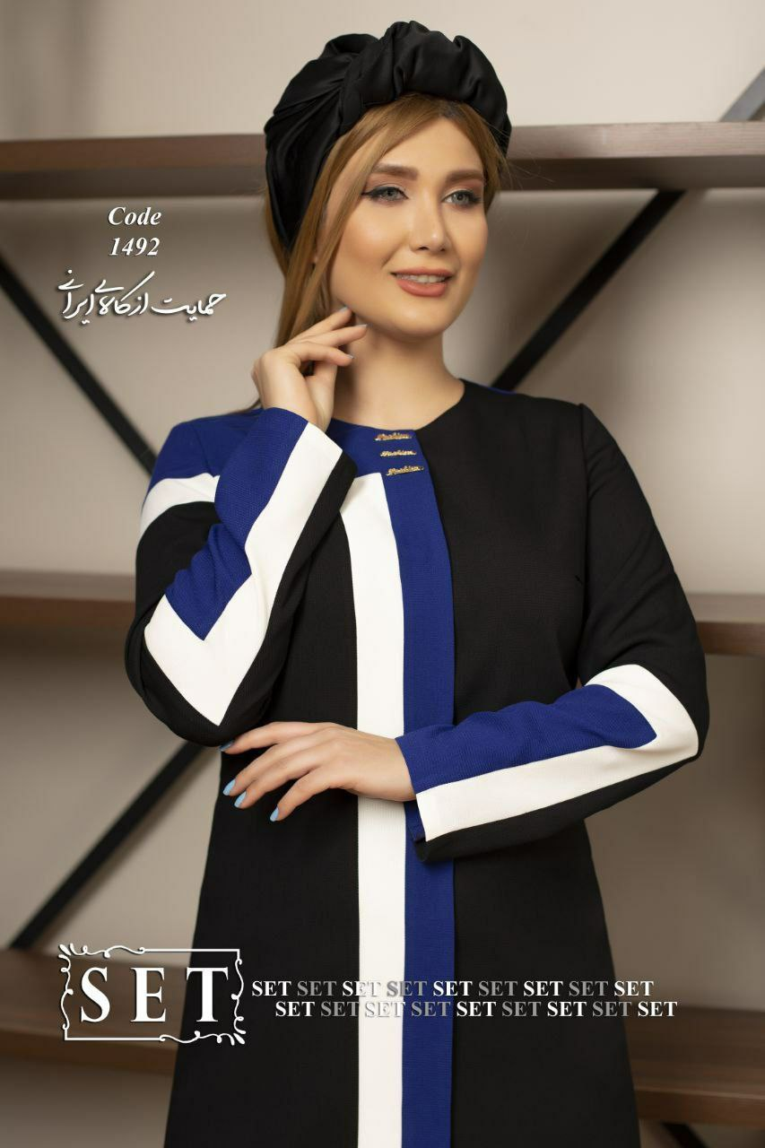 مانتو زنانه مدل ونوس آبی کد 1492