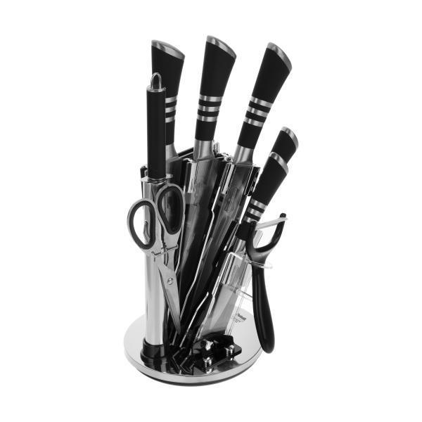 ست چاقو آشپزخانه 9 پارچه رومانتیک هوم مدل RH-1