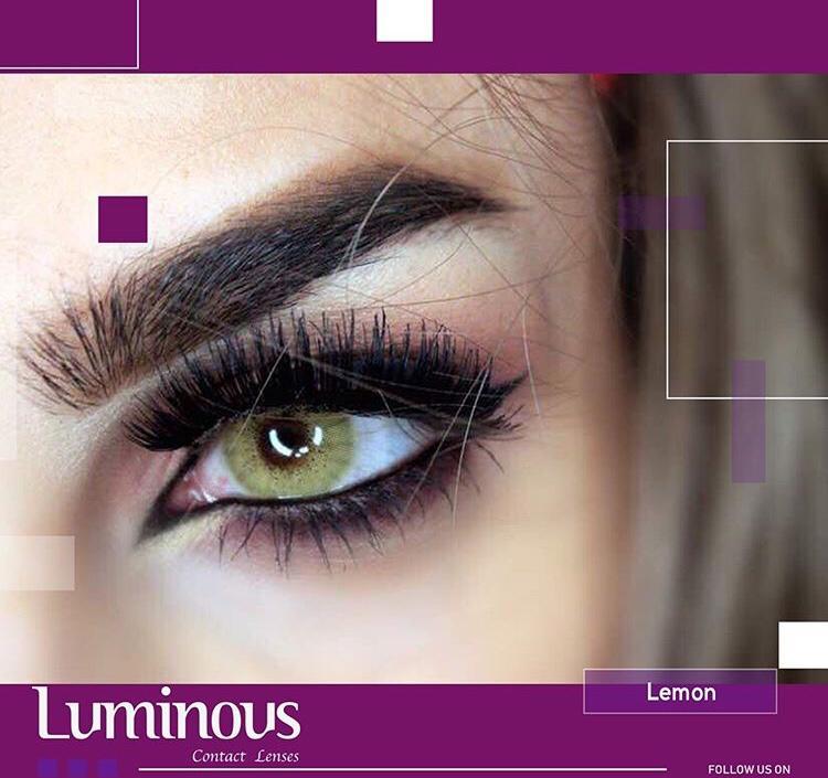 لنز رنگی سالیانه لومینوس رنگ لیمویی lemon