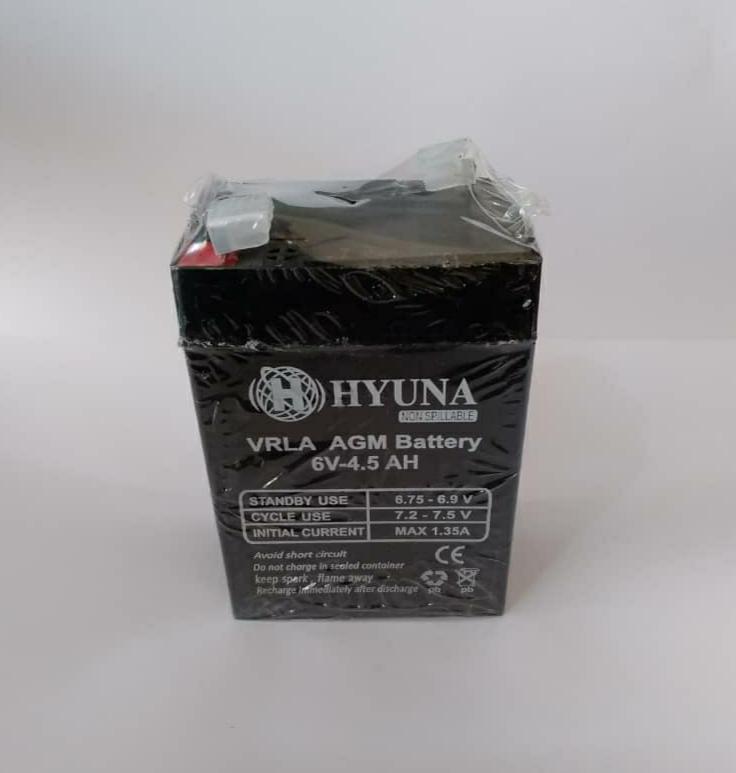 باتری 6 ولت 4/5 آمپر hyuna