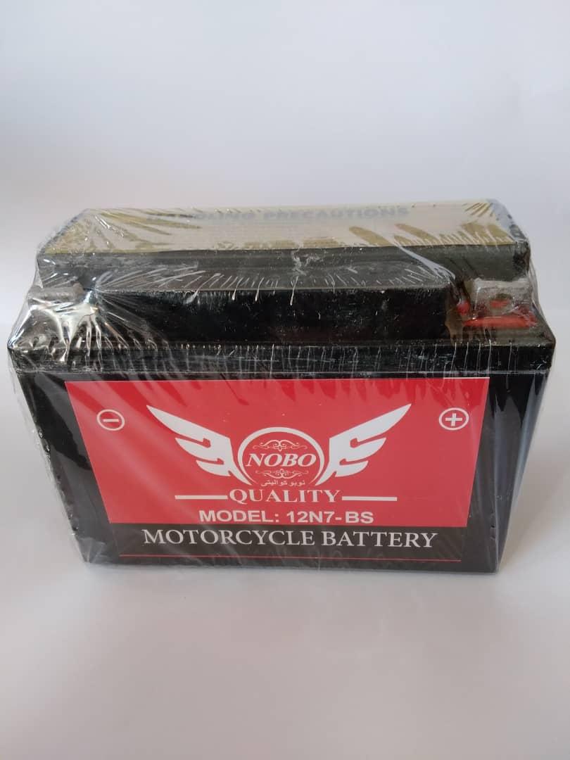 باتری موتورسیکلت ۱۲ ولت ۷ آمپر کوتاه NOBO