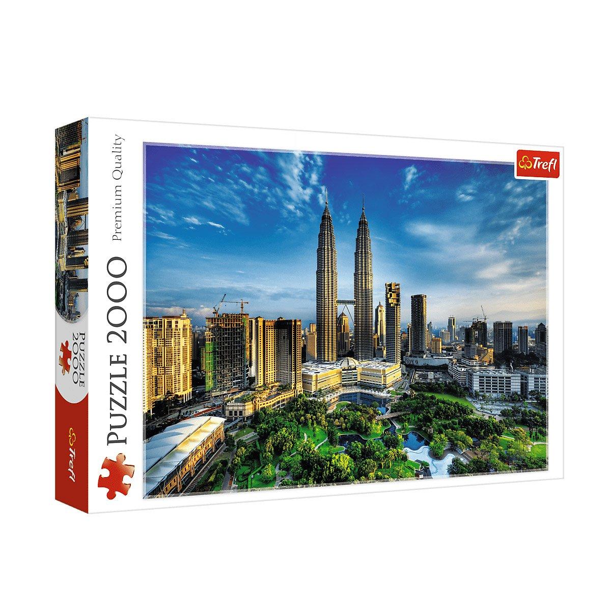 پازل 2000 تکه ترفل مدل برجهای دوقلو پتروناس