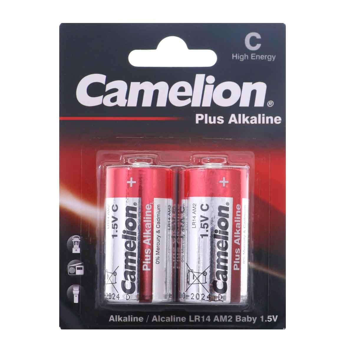باتری C کملیون مدل Plus Alkaline بسته 2 عددی