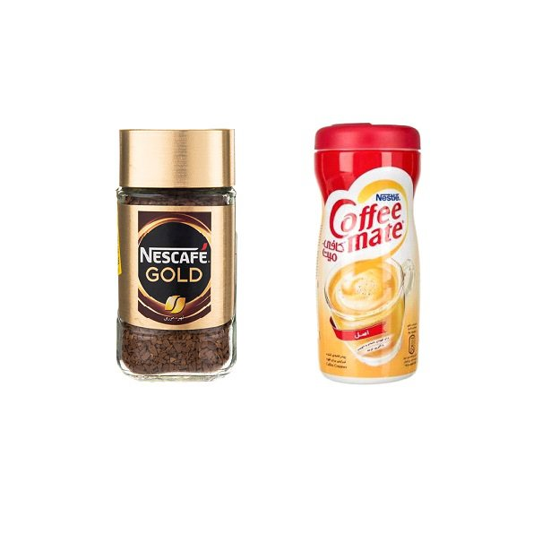قهوه فوری نسکافه مدل GOLD مقدار 50 گرم به همراه کافی میت نستله 170 گرم