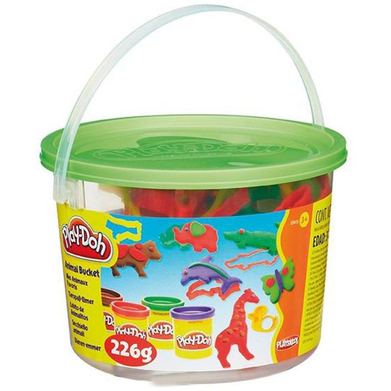 خمیر بازی هاسبرو مدل Animal activities bucket کد 23414